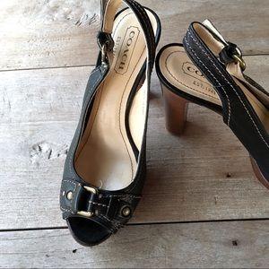 Evelyn Coach Slingback Heels 6.5